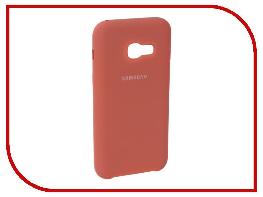 Аксессуар Чехол для Samsung Galaxy A5 2017 Innovation Silicone Pink 10648 skinbox silicone chrome border 4people чехол для samsung galaxy a5 2016 dark silver