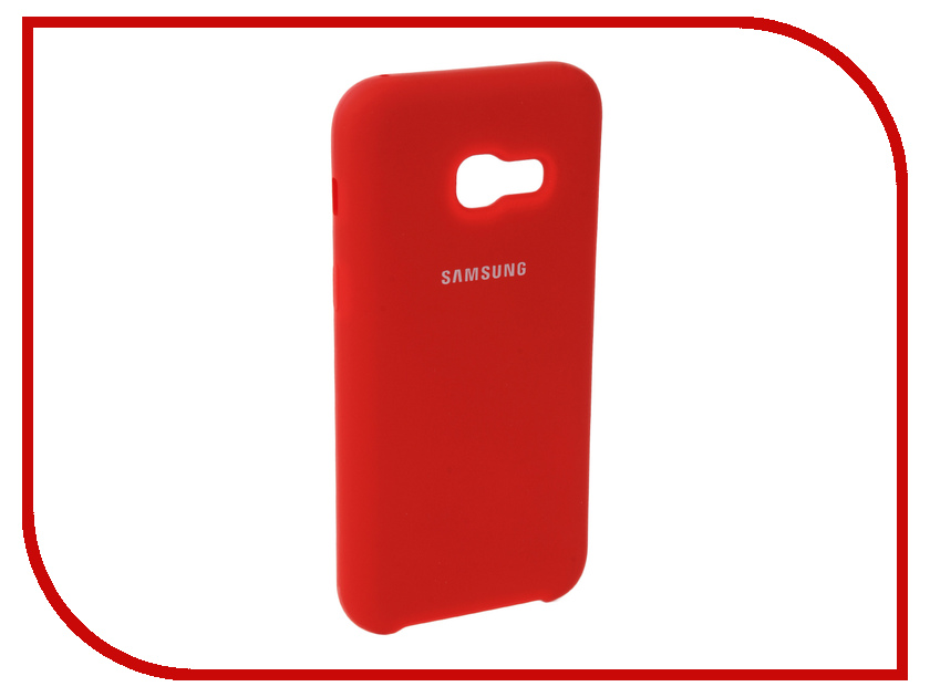Аксессуар Чехол для Samsung Galaxy A3 2017 Innovation Silicone Red 10639 аксессуар чехол для samsung galaxy a5 2017 innovation silicone green 10645
