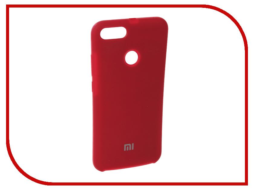Аксессуар Чехол для Xiaomi Mi A1 Innovation Silicone Red 11894 samsung galaxy a7 2016 sm a710fzwdser white