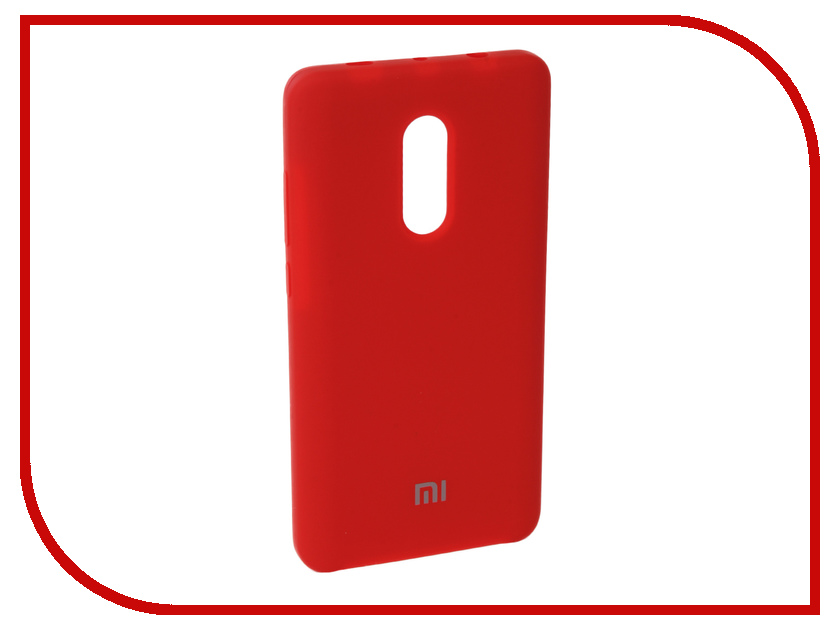 Аксессуар Чехол для Xiaomi Redmi Note 4X Innovation Silicone Red 10727 аксессуар чехол xiaomi redmi note 4x innovation ракушка silicone gold 11101