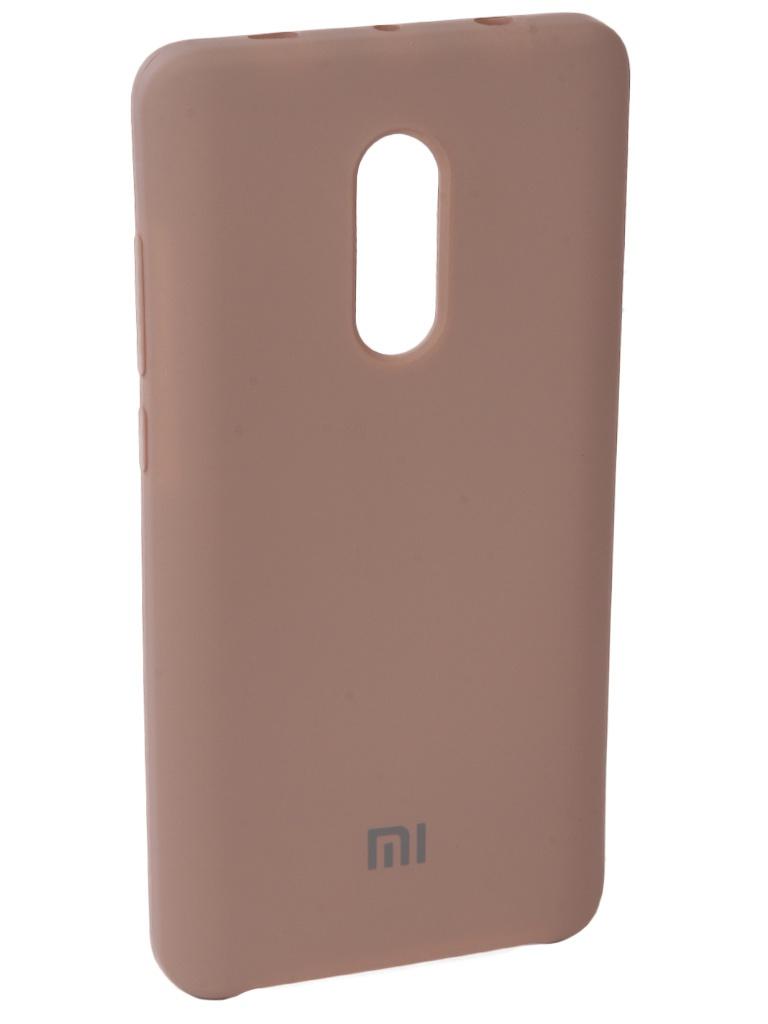 Аксессуар Чехол Innovation для Xiaomi Redmi Note 4X Silicone Pink 10728 аксессуар чехол книга для xiaomi redmi note 4x innovation book pink gold 10576