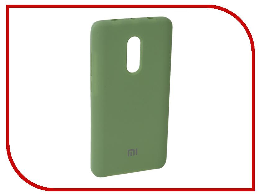 Аксессуар Чехол для Xiaomi Redmi Note 4X Innovation Silicone Green 10725 аксессуар чехол xiaomi redmi note 4x innovation ракушка silicone gold 11101