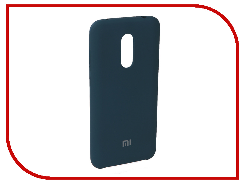 Аксессуар Чехол для Xiaomi Redmi 5 Plus Innovation Silicone Blue 11904 аксессуар чехол книга для xiaomi redmi 5 plus redmi note 5 innovation book silicone rose gold 11447