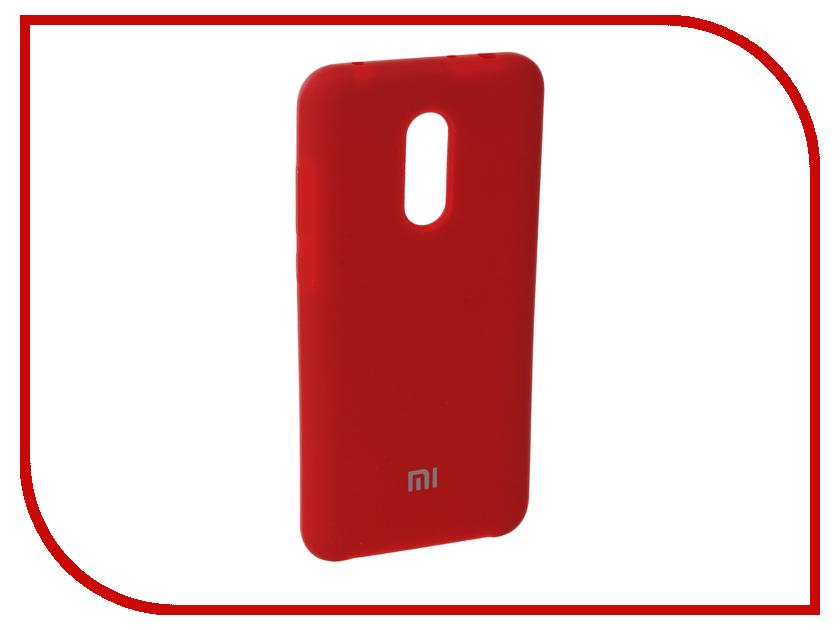 Аксессуар Чехол для Xiaomi Redmi 5 Plus Innovation Silicone Red 11905 аксессуар чехол книга для xiaomi redmi 5 plus redmi note 5 innovation book silicone black 11445