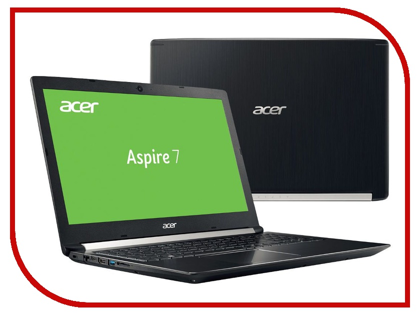 Ноутбук Acer Aspire 7 A715-71G-7100 Black NH.GP8ER.004 (Intel Core i7-7700HQ 2.8 GHz/8192Mb/1000Gb+128Gb SSD/nVidia GeForce GTX 1050 2048Mb/Wi-Fi/Bluetooth/Cam/15.6/1920x1080/Windows 10 Home 64-bit) ноутбук и windows 7