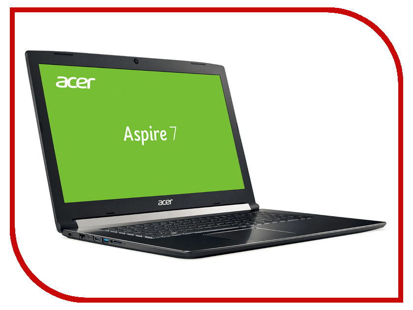 Ноутбук Acer Aspire 7 A717-71G-58NF Black NH.GTVER.005 (Intel Core i5-7300HQ 2.5 GHz/8192Mb/1000Gb+128Gb SSD/nVidia GeForce GTX 1050 2048Mb/Wi-Fi/Bluetooth/Cam/17.3/1920x1080/Linux) ноутбук acer aspire v3 372 70v9 nx g7aer 005