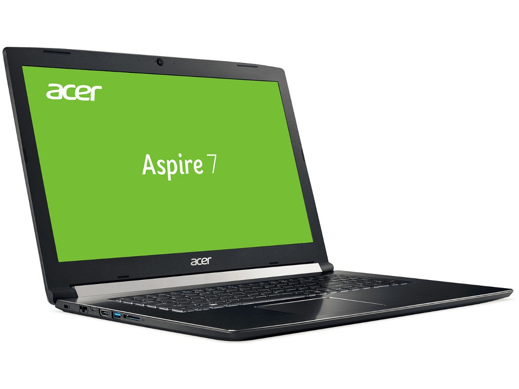Ноутбук Acer Aspire 7 A717-71G-74LB Black NH.GTVER.006 (Intel Core i7-7700HQ 2.8 GHz/8192Mb/1000Gb+128Gb SSD/nVidia GeForce GTX 1050 2048Mb/Wi-Fi/Bluetooth/Cam/17.3/1920x1080/Windows 10 Home 64-bit) ноутбук msi gl72m 7rdx intel core i7 7700hq 2800 mhz 17 3 1920x1080 16gb 1000gb hdd dvd нет nvidia geforce gtx 1050 wi fi bluetooth windows 10 home