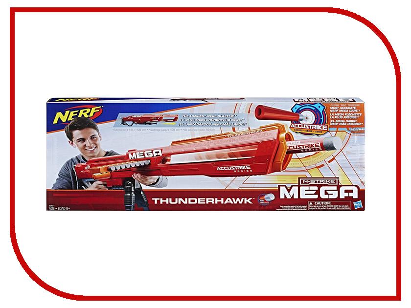 Игрушка Hasbro Nerf Мега Фандерхок E0440 игровой набор hasbro nerf мега 20 стрел которые подходят к любому бластеру серии мега b0085