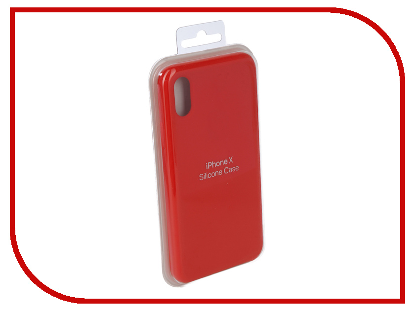 Аксессуар Чехол Innovation Silicone Case для APPLE iPhone X Bright Red 10634 аксессуар чехол innovation jeans для apple iphone 7 8 white 10774