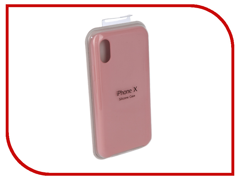 Аксессуар Чехол Innovation Silicone Case для APPLE iPhone X Dark Pink 10632 mesh style protective back case for htc one x s720e deep pink