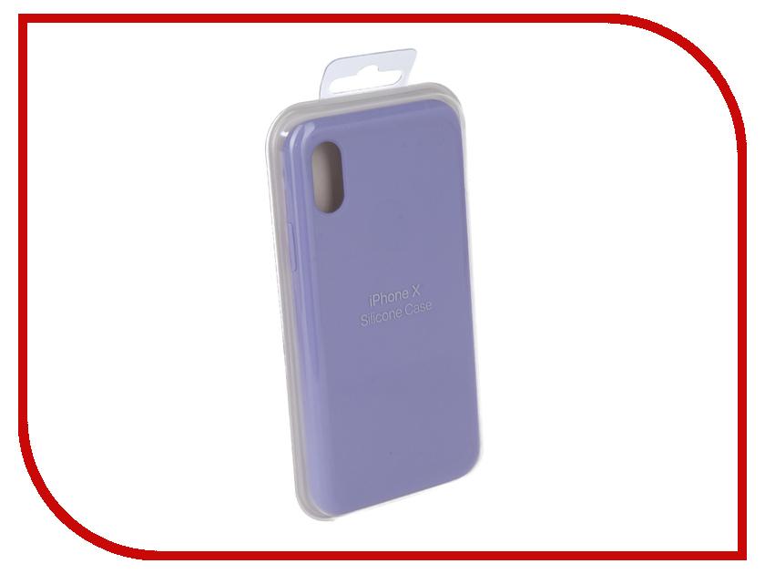 Аксессуар Чехол Innovation Silicone Case для APPLE iPhone X Lilac 10631 аксессуар чехол innovation jeans для apple iphone 7 8 white 10774