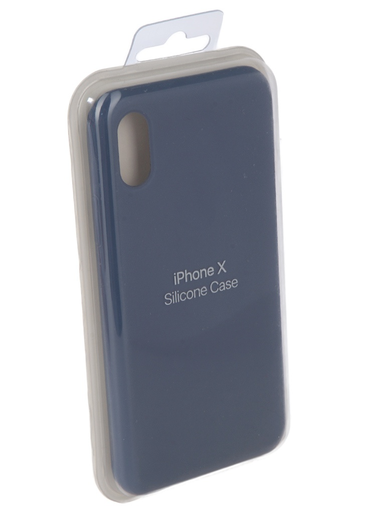 Чехол Innovation для APPLE iPhone X Silicone Blue 10630