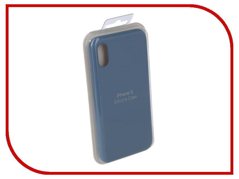 Аксессуар Чехол Innovation Silicone Case для APPLE iPhone X Light Blue 10299 mooncase s line soft flexible silicone gel tpu skin shell back чехол для htc one m9 blue