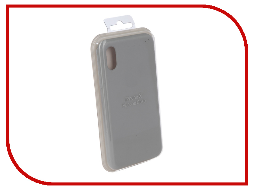 Аксессуар Чехол Innovation Silicone Case для APPLE iPhone X Light Grey 10298 protective aluminum silicone back case for iphone 5c grey black