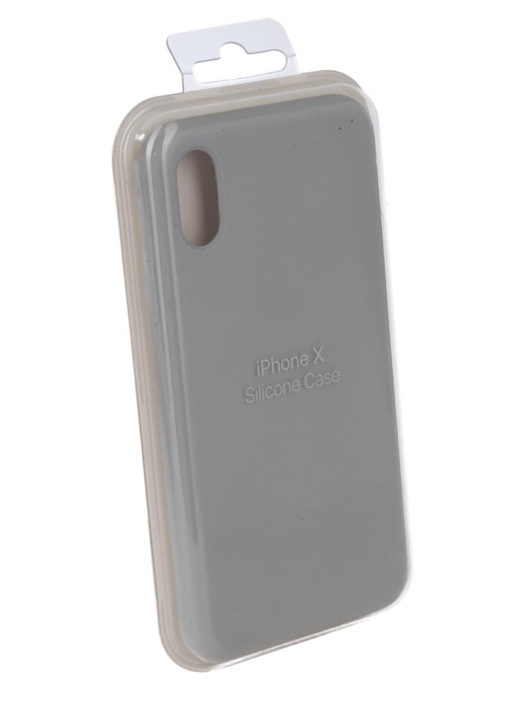 Чехол для APPLE iPhone X Innovation Silicone Case Light Grey 10298