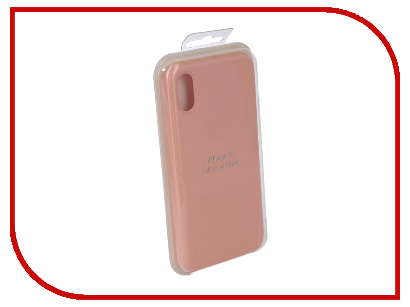 Аксессуар Чехол Innovation Silicone Case для APPLE iPhone X Pink 10303 protective cartoon silicone back case for iphone 4 4s red white