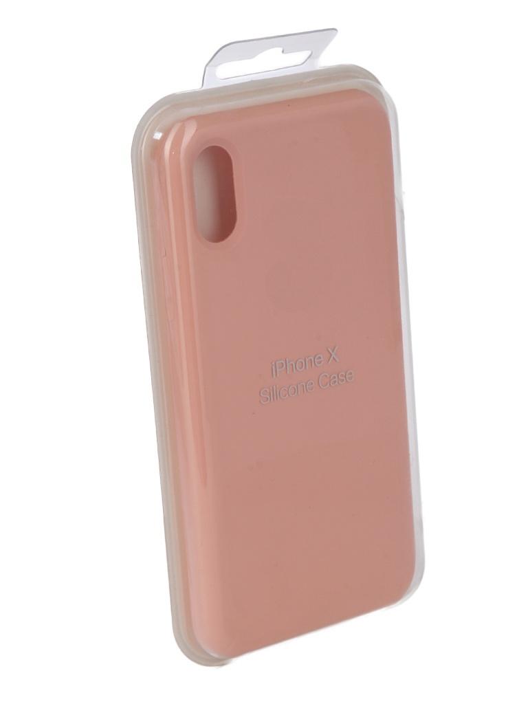 Чехол для APPLE iPhone X Innovation Silicone Case Pink 10303