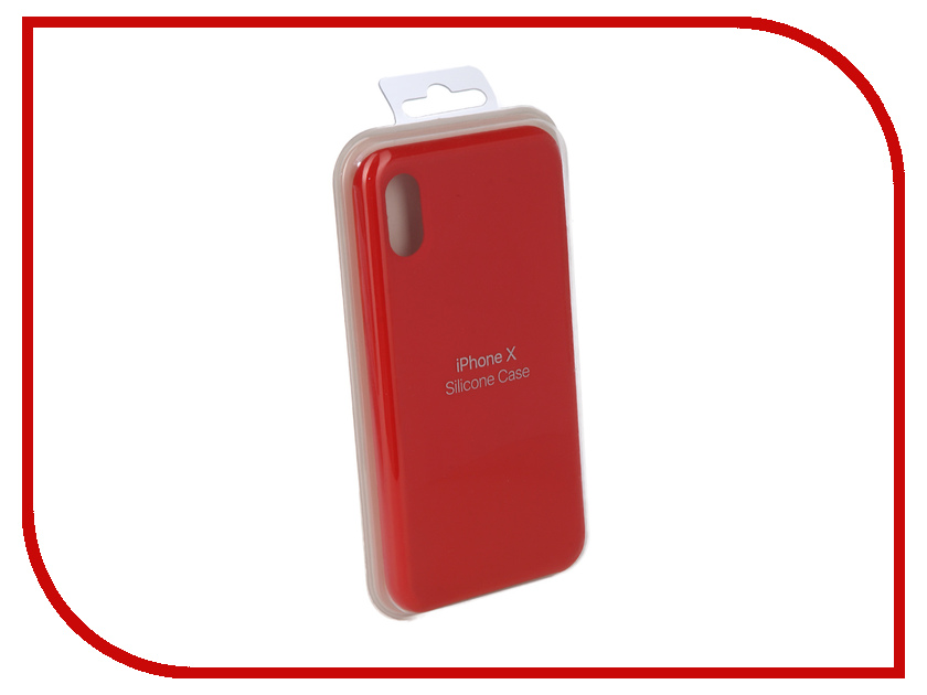 Аксессуар Чехол Innovation Silicone Case для APPLE iPhone X Red 10302 аксессуар чехол innovation jeans для apple iphone 7 8 white 10774