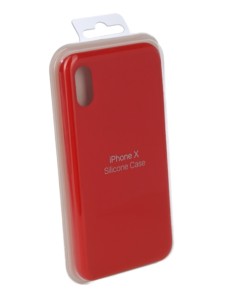 Аксессуар Чехол Innovation для APPLE iPhone X Silicone Case Red 10302 аксессуар чехол для apple iphone x innovation silicone case dark pink 10632