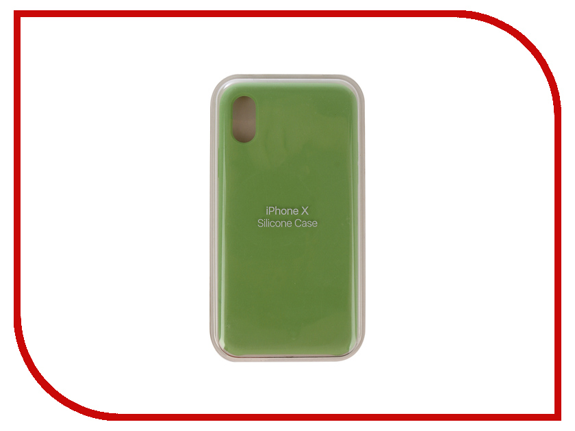 Аксессуар Чехол Innovation Silicone Case для APPLE iPhone X Green 10300 mesh style protective back case for htc one x s720e deep pink