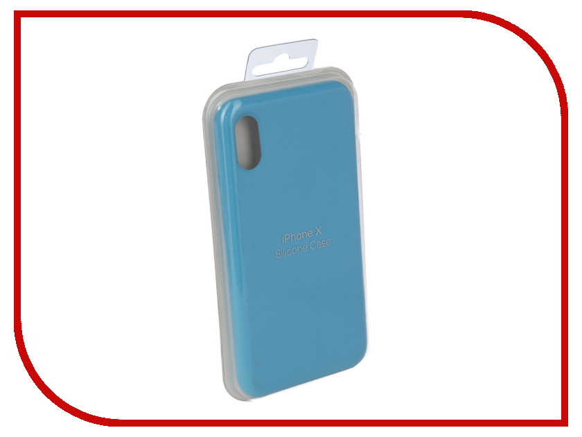 Аксессуар Чехол Innovation Silicone Case для APPLE iPhone X Light Blue 10297 mooncase s line soft flexible silicone gel tpu skin shell back чехол для htc one m9 blue