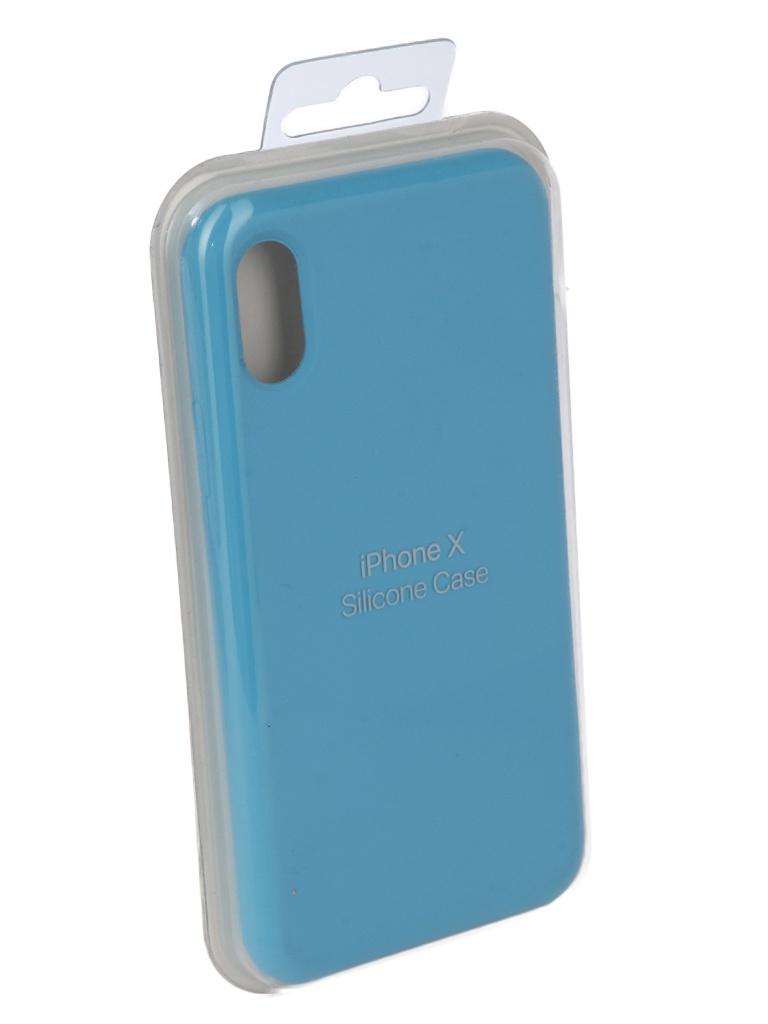 Чехол для APPLE iPhone X Innovation Silicone Light Blue 10297