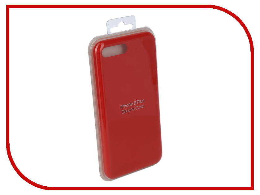 Аксессуар Чехол Innovation Silicone Case для APPLE iPhone 7 Plus/8 Plus Bright Red 10628