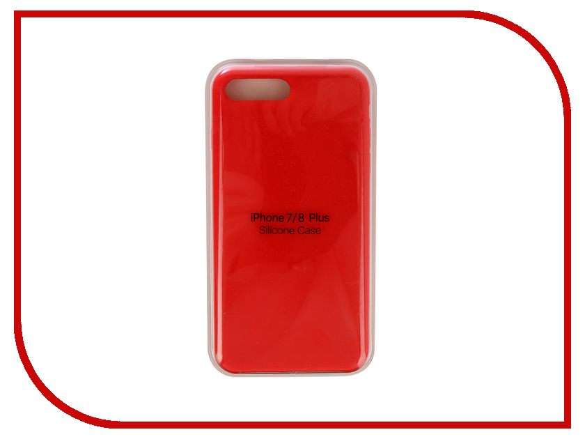 Аксессуар Чехол для APPLE iPhone 7 Plus / 8 Plus Innovation Silicone Case Red 10276 чехол для apple iphone 8 7 plus silicone case black