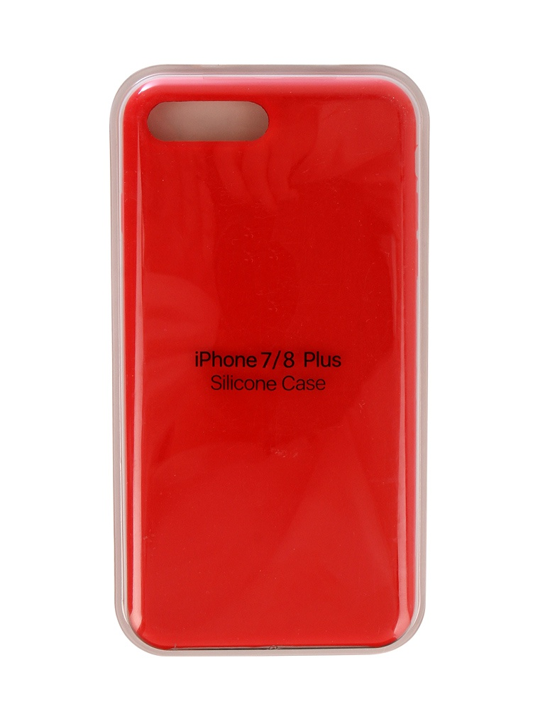 Аксессуар Чехол Innovation для APPLE iPhone 7 Plus / 8 Plus Silicone Case Red 10276 аксессуар чехол книжка momax elite case для iphone 6 plus fdapip6lbd red