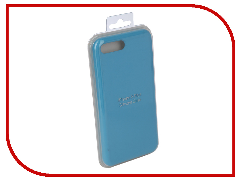 Аксессуар Чехол Innovation Silicone Case для APPLE iPhone 7 Plus/8 Plus Light Blue 10271 аксессуар чехол innovation jeans для apple iphone 7 8 blue 10778