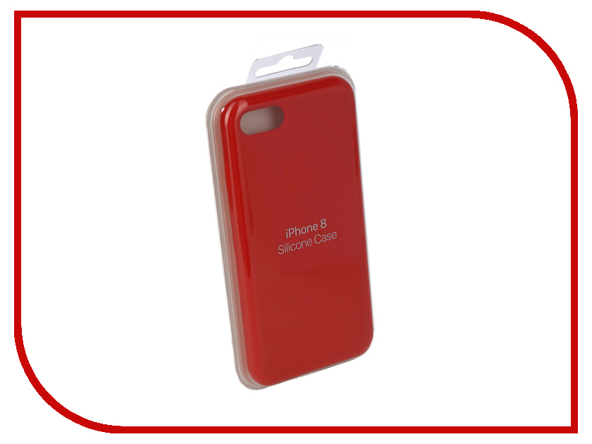 Аксессуар Чехол Innovation Silicone Case для APPLE iPhone 7/8 Bright Red 10629 аксессуар чехол innovation jeans для apple iphone 7 8 red 10776