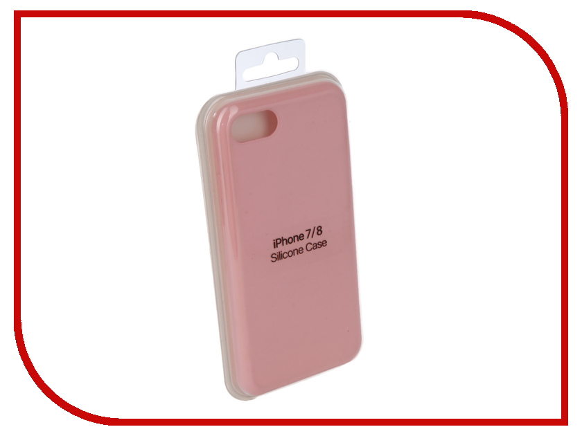 Аксессуар Чехол Innovation Silicone Case для APPLE iPhone 7/8 Pink 10289 аксессуар чехол innovation silicone case для apple iphone 5g 5s 5se pink 10240