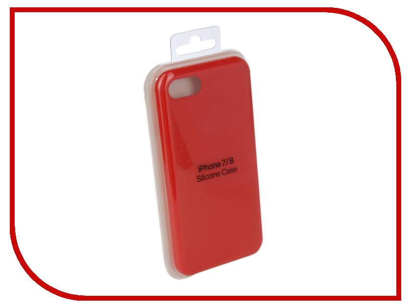 Аксессуар Чехол для APPLE iPhone 7 / 8 Innovation Silicone Case Red 10288 чехол для apple iphone 8 7 silicone case white