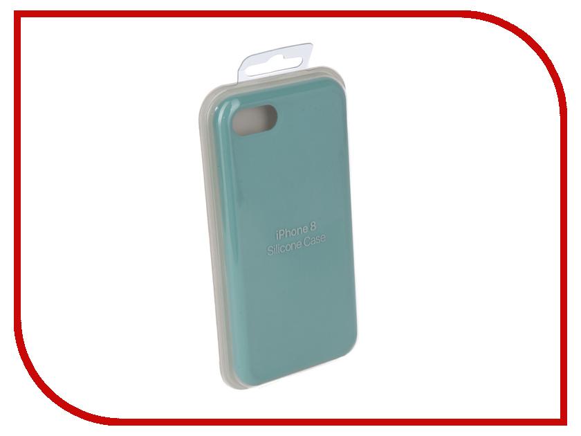 Аксессуар Чехол Innovation Silicone Case для APPLE iPhone 7/8 Turquoise 10282 аксессуар чехол innovation jeans для apple iphone 7 8 beige 10773