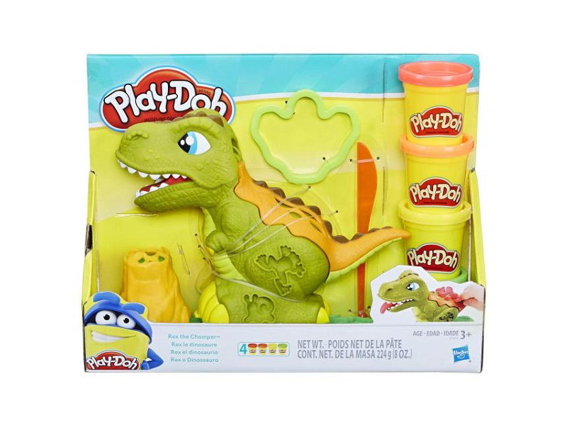 Игрушка Hasbro Play-Doh Могучий Динозавр E1952 батарейки duracell аа lr6 18bl basic 18 шт