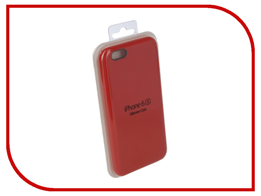 Аксессуар Чехол Innovation Silicone Case для APPLE iPhone 6/6S Bright Red 10623 аксессуар чехол накладка innovation silicone 0 3mm для apple iphone 6 6s transparent 12002