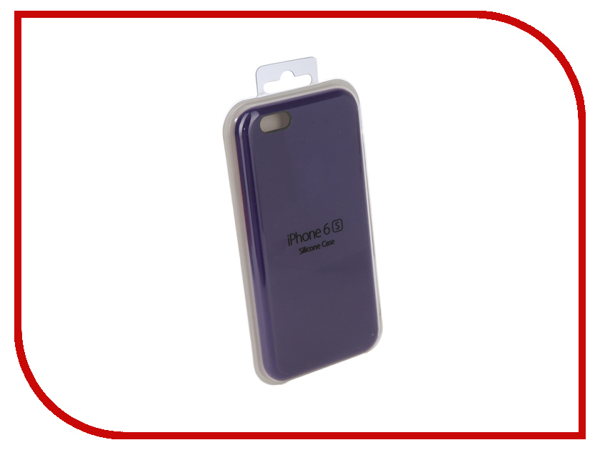 Аксессуар Чехол Innovation Silicone Case для APPLE iPhone 6/6S Purple 10267 аксессуар чехол innovation jeans для apple iphone 7 8 white 10774