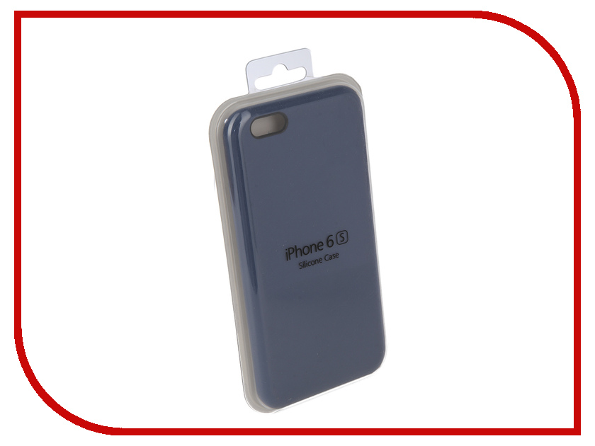 Аксессуар Чехол Innovation Silicone Case для APPLE iPhone 6/6S Blue 10266 чехол apple leather case для iphone 6 6s plus