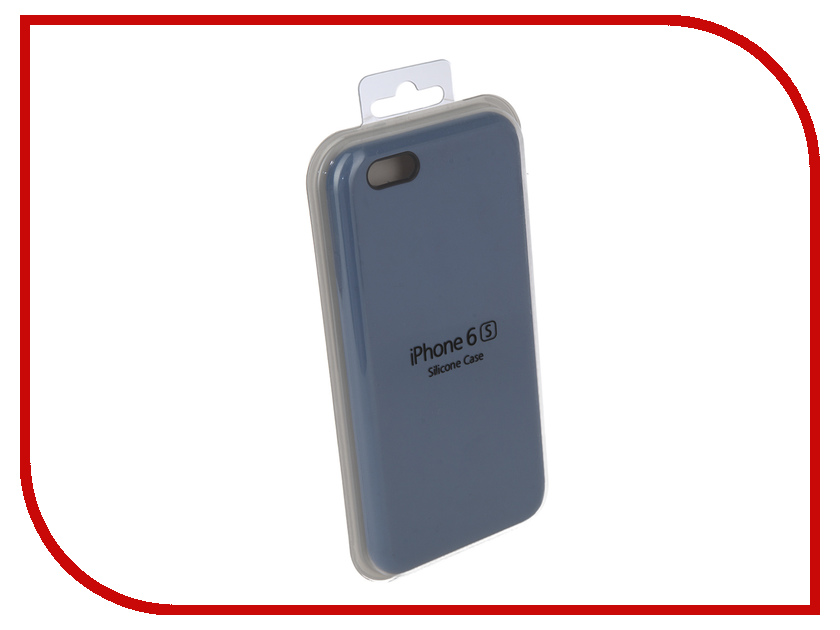Аксессуар Чехол Innovation Silicone Case для APPLE iPhone 6/6S Light Blue 10254 чехол apple leather case для iphone 6 6s plus