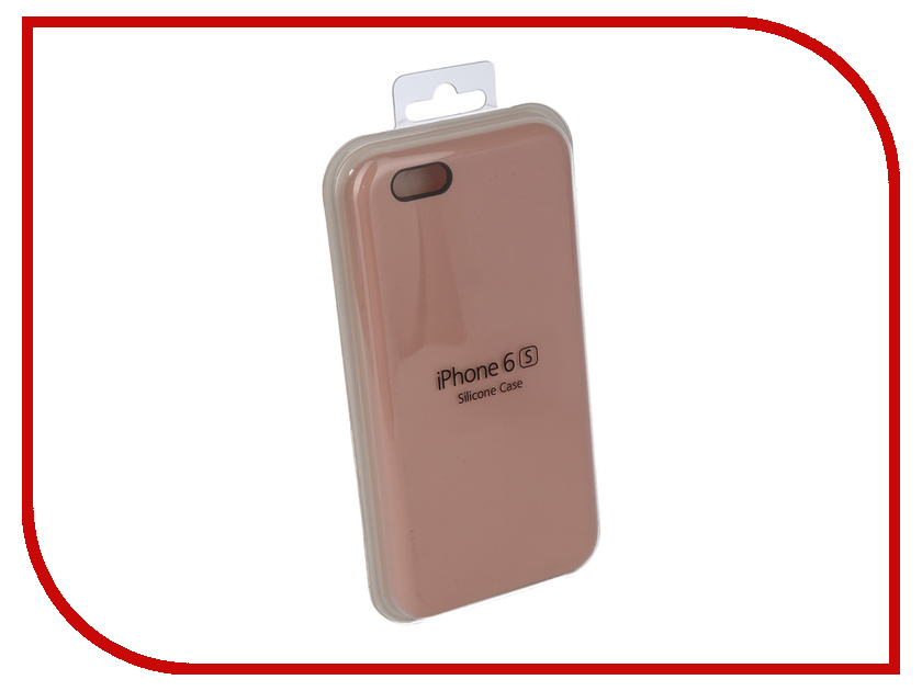 Аксессуар Чехол Innovation Silicone Case для APPLE iPhone 6/6S Pink 10263 чехол apple leather case для iphone 6 6s plus