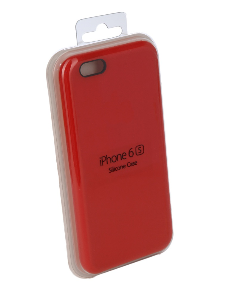 Аксессуар Чехол Innovation для APPLE iPhone 6 / 6S Silicone Case Red 10262 аксессуар чехол книжка momax elite case для iphone 6 plus fdapip6lbd red