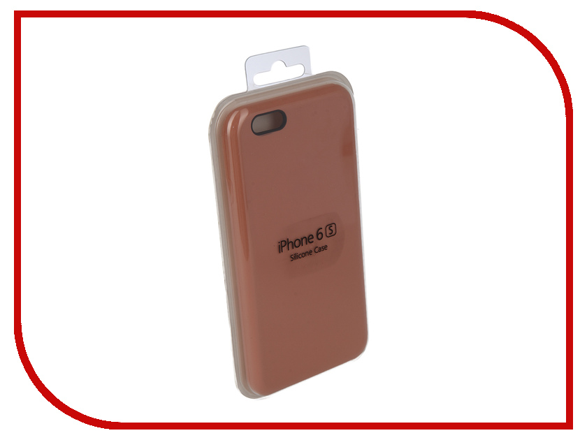 Аксессуар Чехол Innovation Silicone Case для APPLE iPhone 6/6S Coral 10261 аксессуар чехол innovation jeans для apple iphone 7 8 white 10774