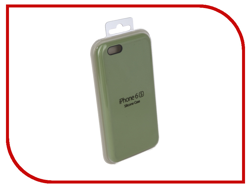 Аксессуар Чехол для APPLE iPhone 6 / 6S Innovation Silicone Case Green 10260