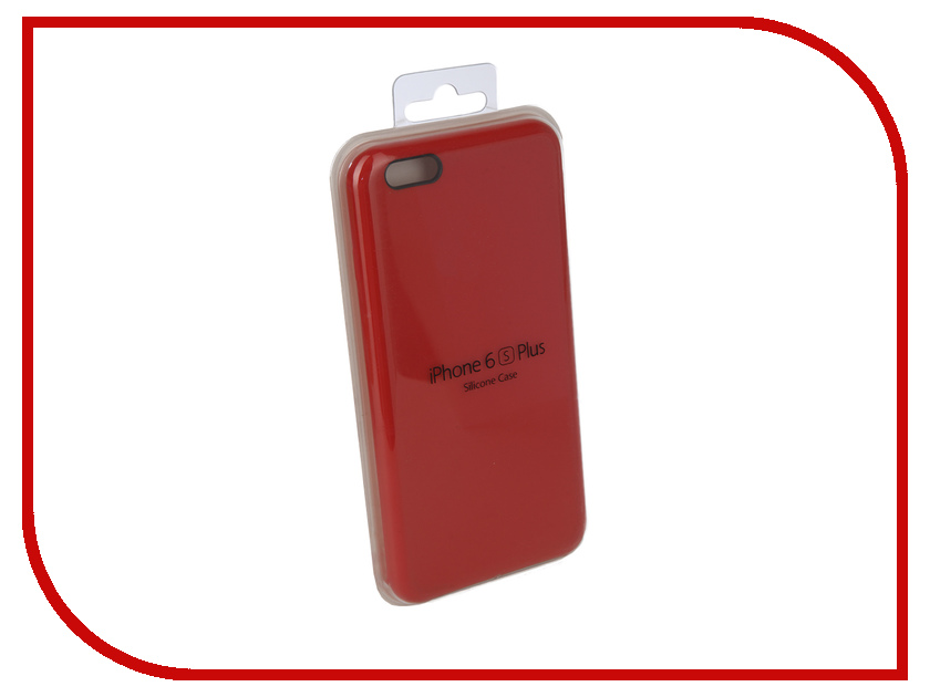 Аксессуар Чехол для APPLE iPhone 6 Plus / 6S Plus Innovation Silicone Case Bright Red 10618 фотонабор olloclip studio для apple iphone 6 6s plus black oc 0000169 eu