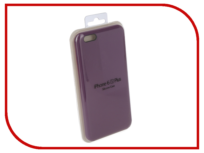 Аксессуар Чехол Innovation Silicone Case для APPLE iPhone 6/6S Plus Purple 10619 apple silicone case чехол для iphone 6s plus white