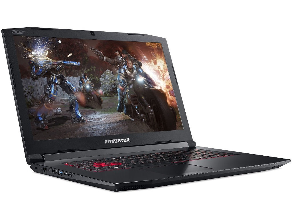 Ноутбук Acer Predator Helios 300 PH317-52-54TM Black NH.Q3EER.004 (Intel Core i5-8300H 2.3 GHz/16384Mb/1000Gb+128Gb SSD/nVidia GeForce GTX 1050Ti 4096Mb/Wi-Fi/Bluetooth/Cam/17.3/1920x1080/Linux)