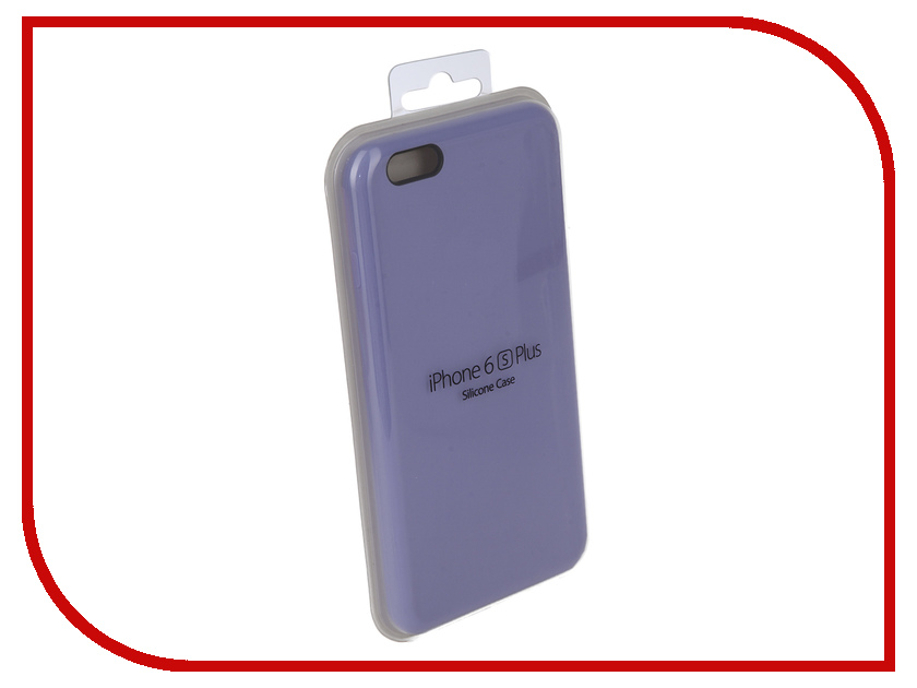 Аксессуар Чехол для APPLE iPhone 6 Plus / 6S Plus Innovation Silicone Case Lilac 10621 protective flip open pu pc case w stand card money slot for iphone 6 plus blown