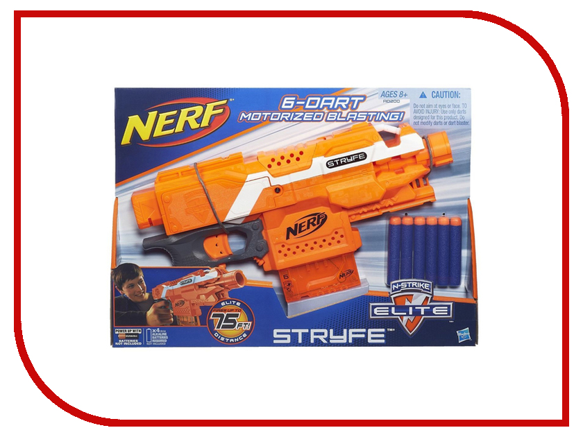 Игрушка Nerf Элит Страйф (A0200) hasbro nerf a0200 нерф бластер элит страйф