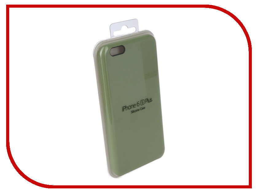 Аксессуар Чехол Innovation Silicone Case для APPLE iPhone 6/6S Plus Green 10248 apple silicone case чехол для iphone 6s plus white