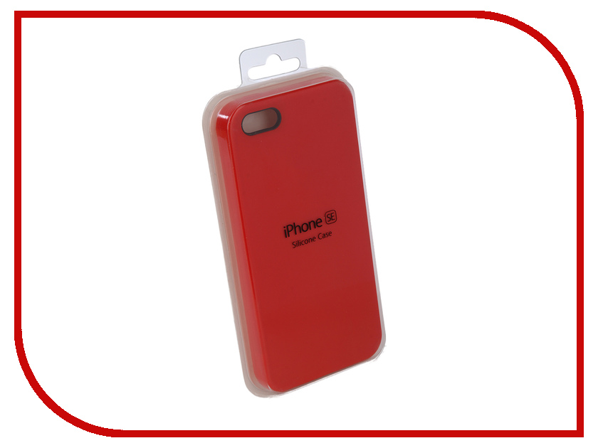 Аксессуар Чехол Innovation Silicone Case для APPLE iPhone 5G/5S/5SE Bright Red 10617 protective plastic silicone back case for iphone 4 4s red